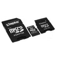 - KINGSTON MicroSD Card 1GB + 2 adapter