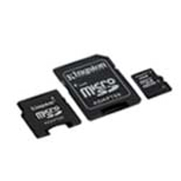- KINGSTON MicroSD HC Card 4GB + 2 adapter