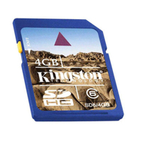 - Kingston SD High Capacity card 4GB Class6